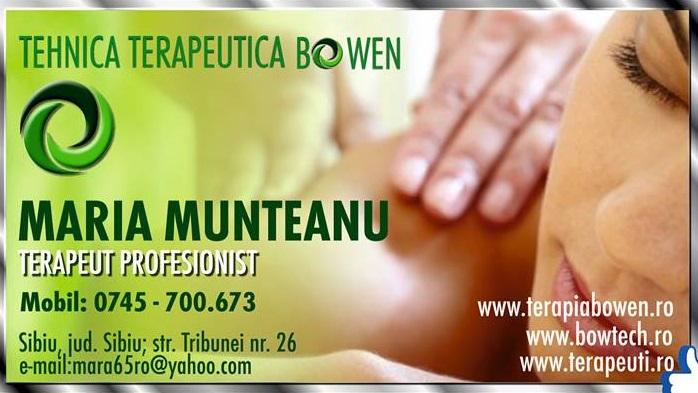 Terapia Bowen Sibiu - Maria Munteanu
