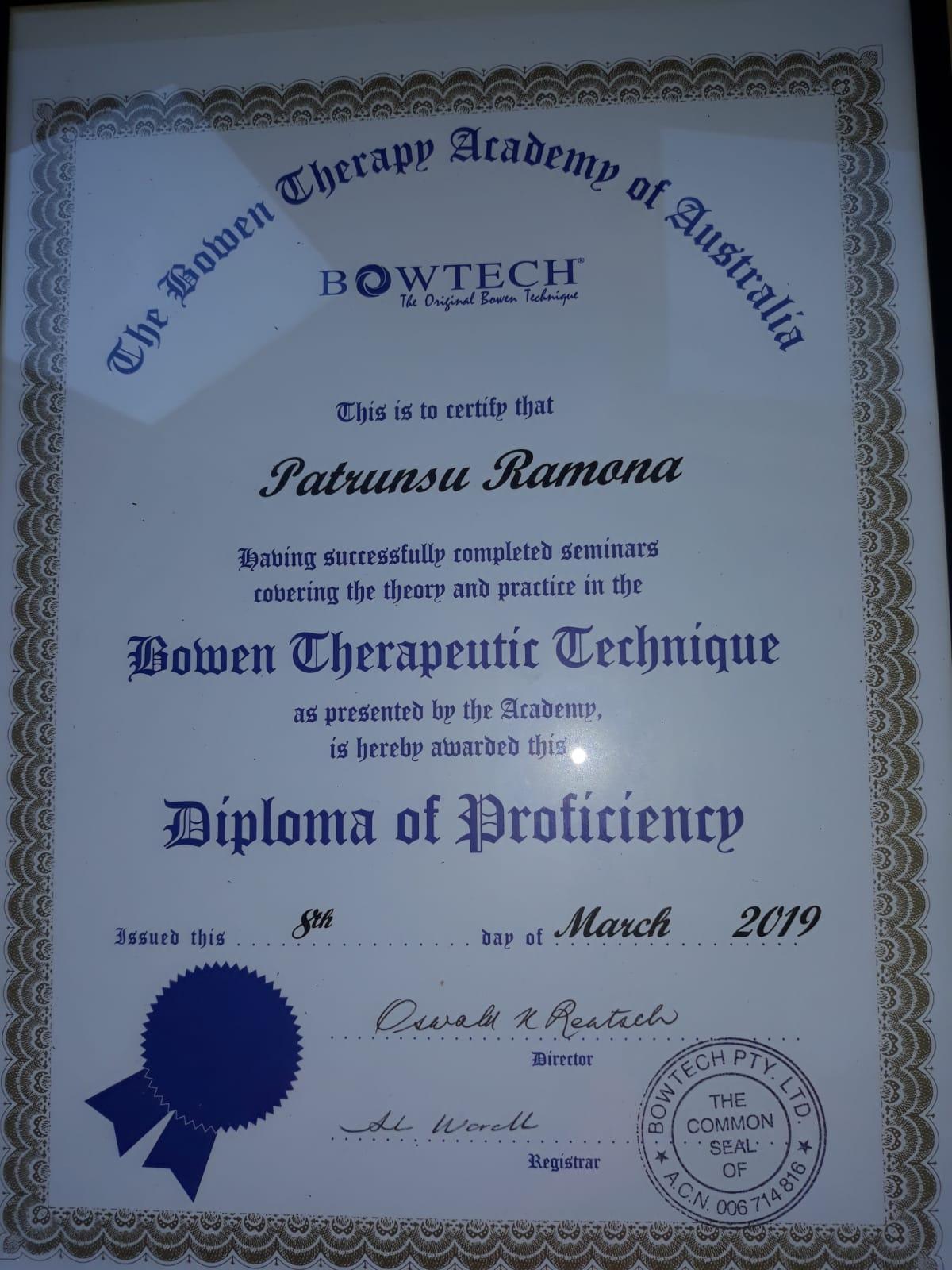 Terapia Bowen Vaslui - Ramona Patrunsu